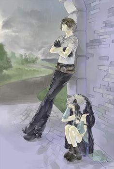 Squall and Rinoa in the Rain. Final Fantasy VIII