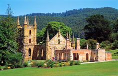 The old Penal Colony at Port Arthur, Tasmania, Australia.