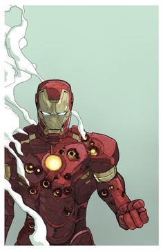 Iron Man - fan art by Dave Seguin