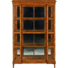 Queen Anne Glass Circa 1910 Glazed Fine Quality Burr Walnut Display Cabinet
