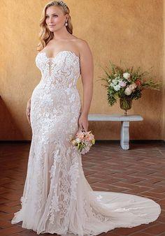 dd00b49f365 55 Best Plus Sized Wedding Dresses images