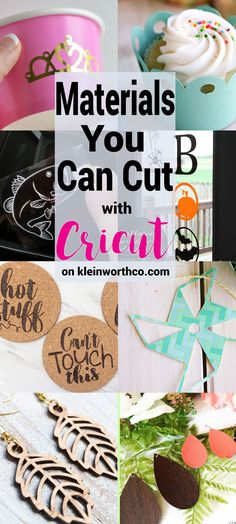 Wondering what Materials You Can Cut with Cricut? Check out all these super awes… Wondering what Materials You Can Cut with Cricut? Check out all these super awesome projects made with so many different materials & cut with Cricut. Crafts For Teens To Make, Crafts To Sell, Diy And Crafts, Quick Crafts, Paper Crafts, Cricut Craft Room, Cricut Vinyl, Cricut Air, Cricut Help