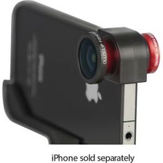 Olloclip Quick-Connect Lens Solution (Fisheye Lens, Macro Lens, Wide-angle Lens)for iPhone 4 / - - Red: Cell Phones & Accessories Gadgets And Gizmos, Tech Gadgets, Cool Gadgets, Iphone Gadgets, Amazing Gadgets, Iphone Camera Accessories, Mobiles, Action Sport, Selfies