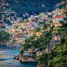View of Positano, Positano by the sea, province of Salerno, Campania region, Italy Napoli Italy, Rome Italy, Positano Italy, Sorrento, Places Around The World, Around The Worlds, Wonderful Places, Beautiful Places, Places To Travel
