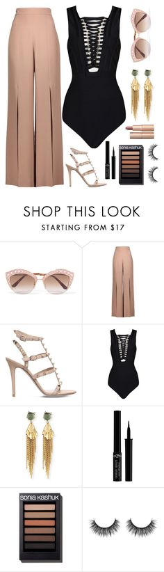"""""""What do you want from me?"""" by boneca-costa ❤ liked on Polyvore featuring Gucci, Cushnie Et Ochs, Valentino, Alexis Bittar, Giorgio Armani and Charlotte Tilbury"""