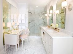 BATHROOM Tracy Hardenburg Designs #white #vanity