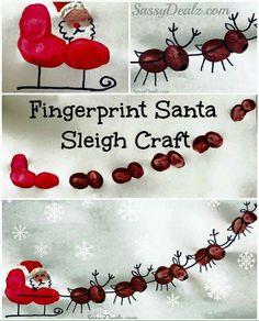Finger print Christmas art