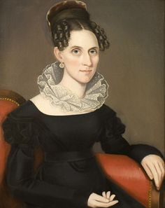 """A Lady,"" by Ammi Phillips (1788-1865)"