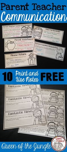 Quick notes to send home to parents. Great Time Savers!