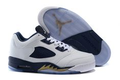 """wholesale dealer 9cb3f ab963 Find 2016 Air Jordan 5 Low """"Dunk From Above"""" White Metallic Gold  Star-Midnight Navy Online online or in Footlocker. Shop Top Brands and the latest  styles ..."""
