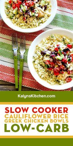 Slow Cooker Recipes, Crockpot Recipes, My Favorite Food, Favorite Recipes, Greek Seasoning, Greek Lemon Chicken, Crockpot Dishes, Cauliflower Rice, Keto Dinner