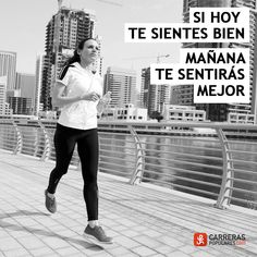 Si hoy te sientes bien, mañana te sentirás mejor Motivational Quotes, Inspiration, Run Motivation, Quote Of The Day, I'm Sorry, Tuesday, Confidence, December, Get Well Soon