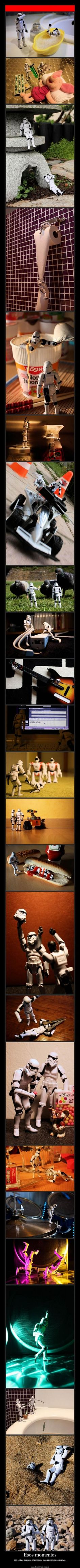 Stuff stormtroopers do never gets old. #starwars I think this says Those Moments: friends always remember those times together (something along those lines)