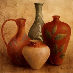 Lanie Loreth Decorative Vessel Still Life II painting for sale, this painting is available as handmade reproduction. Shop for Lanie Loreth Decorative Vessel Still Life II painting and frame at a discount of off. Canvas Wall Art, Wall Art Prints, Fine Art Prints, Poster Prints, Painting Canvas, Afrique Art, Still Life Drawing, Art Pictures, Photos