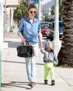 Miranda Kerr works denim on denim
