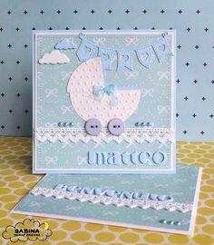 Baby Boy Cards Handmade, Baby Cards, Kids Cards, Baby Scrapbook, Scrapbook Cards, Karten Diy, Diy Notebook, Art N Craft, Congratulations Card