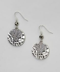 Look what I found on #zulily! Silver & Hematite Bead Pendant Drop Earrings #zulilyfinds