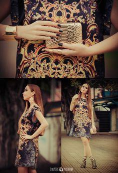 Annuska Teixeira + vestido estampa renda com arabescos Moikana! Lindo <3