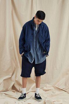 Baggy Cargo Pants, Wide Pants, Chino Shorts, Asian Men Fashion, Japan Fashion, Denim Fashion, Beige Trench Coat, Harrington Jacket, Field Jacket