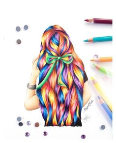 """""""Rainbow Hair"""" by silluusshh on Polyvore featuring beauty"""
