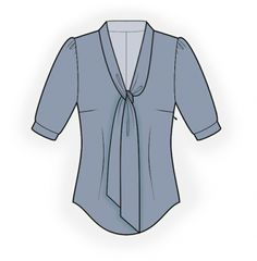 Lekala Sewing Patterns - Blouse with a tie