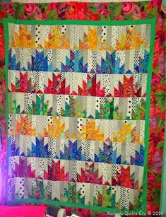 scrappy mountain majesties quilt top, on the melinda quilts etc blog (melinful.blog)