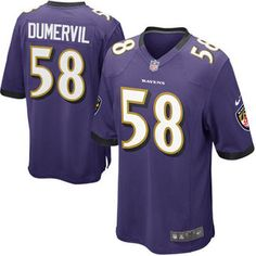 Elvis Dumervil Baltimore Ravens Nike Youth Team Color Game Jersey - Purple  Nfl Jerseys For Sale dbf34618b