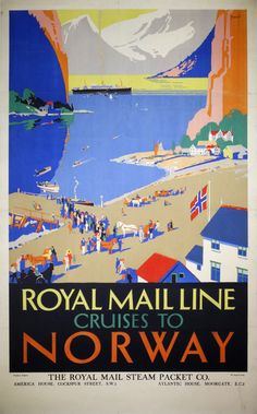 Royal Mail - Atlantis Cruises to Norway by Padden, Percy (1885-1965)