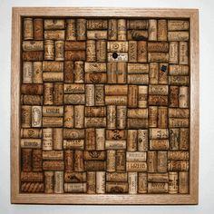 Cork bulletin board, crisscross pattern