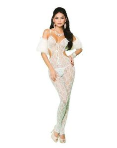 Elegant Moments Lingerie Mint Green Lace You are a naughty angle who has set her heart on spellbinding her man. Wear this charming Mint green lace bodystocking with open crotch and satin bow detail. The sexy bodystocking will work its magic  http://www.MightGet.com/january-2017-12/elegant-moments-lingerie-mint-green-lace.asp