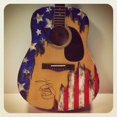 Guitar inspired and autographed by Charlie Daniels for the Guitars of the Stars Auction at CMA Music Fest 2012