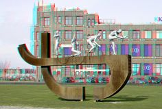 https://flic.kr/p/E7GYki | Slavernijmonument Rotterdam 3D | Rotterdam anaglyph stereo CLAVE by Alex da Silva