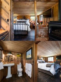 Looking for ideas on how to make a beautiful and comfy tiny house bedroom? Here are tiny house bedroom ideas for you as a reference to make it on your own! Tiny House Bedroom, Tiny House Loft, Tiny House Plans, Bedroom Loft, Home Bedroom, Bedroom Ideas, Master Bedroom, Bedroom Decor, Modern Lake House