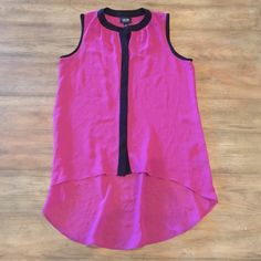Sale- Pink and black tank blouse Pink and black tank blouse Nicole by Nicole Miller Tops Blouses
