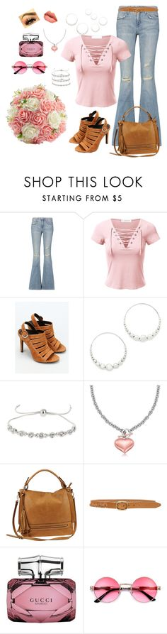 """Pink, Hip, Comfy; Kinda Retro"" by melissa-markel ❤ liked on Polyvore featuring Current/Elliott, Kendall + Kylie, Gas Bijoux, Miss Selfridge, Urban Expressions, rag & bone and Gucci"