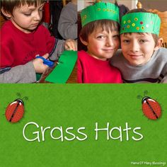 How to make your own grass hat kids craft idea. Perfect for your African unit study of grass, or your spring unit for kids. New Crafts, Summer Crafts, Crafts To Make, Easy Crafts, Crafts For Kids, Rainy Day Activities, Toddler Learning Activities, Classroom Activities, Classroom Ideas