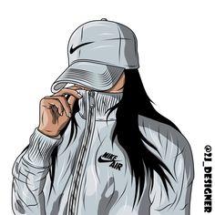 𝔭𝔦𝔫𝔱𝔢𝔯𝔢𝔰𝔱: 𝔲𝔤𝔩𝔶𝔡𝔦𝔞𝔟𝔩𝔬 in 2019 Tumblr Girl Drawing, Girl Drawing Sketches, Cute Girl Drawing, Girly Drawings, Girl Sketch, Cartoon Drawings, Black Girl Cartoon, Dope Cartoon Art, Black Girl Art