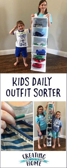Kids Daily Outfit Sorter (& More Organizing) - creatingmaryshome.com