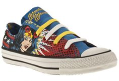 Wonder Woman shoes. A little strength on our feet!