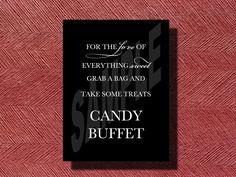 Wedding Candy Buffet Sign by WeddingsByJamie on Etsy