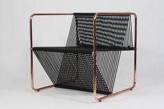 M100 chair by Matias Ruiz. Kan man måske lave sit opvaskestativ om til en magasin holder og spraymale den kobber?