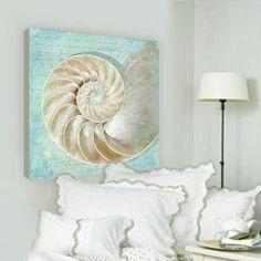 beach decor artwork nautilus shell