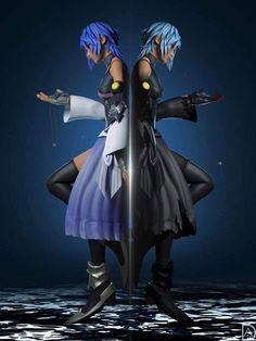 Credit to the creator of this picture. It is just beautiful, wonderful job creator. Kingdom Hearts Funny, Kingdom Hearts Games, Kingdom Hearts Fanart, Cry Anime, Anime Art, Kingdom Hearts Wallpaper, Kh 3, Kindom Hearts, Disney Magic Kingdom