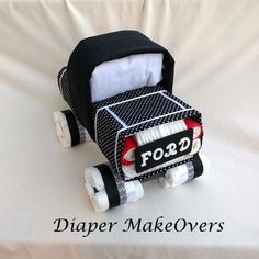 Truck Diaper Cake - Baby Boy Diaper Cake - Unique Diaper Cake - Baby Shower Gift or Centerpiece - OOAK Gift Ideas truck diaper cake diaper cake unique diaper cake baby gift baby boy gift ideas truck baby shower baby shower decor shower centerpiece OOAK baby gifts trucks for baby boys diapercake babyshower gifts boy diaper cake 58.50 USD #goriani