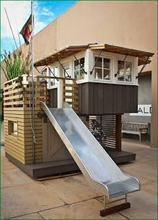 I wouldn't mind the slide.  I realize the little room I want is really my childhood playhouse.  Arcanum Architecture  Behrens-Curry Homes