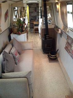 Barge Interior, Best Interior, Interior Design, Canal Boat Interior, Boat Bookcase, Boat Pics, Canal Barge, Narrowboat Interiors, Sailboat Plans