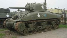 """The Sherman Tank was the main battle tank of the US Army during World War 2. It was a medium tank but it was no match for the Germans. The Americans nicknamed it the """"Ronson"""" after the cigarette lighter because it would burst into flame after being hit by even the smallest German tank. During Operation Goodwood the Germans knocked out over 300 Shermans in a few hours for the loss of one tank. On the other hand, the tank was reliable and easy to produce and maintain - and numbers win wars-we…"""