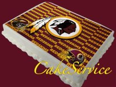 Redskins Cake To Go With The Theme Flickr Photo Sharing