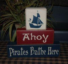 etsy pirate bathrooom | Found on etsy.com