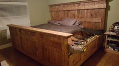 King bed with doggie insert by DoggieDilemma on Etsy